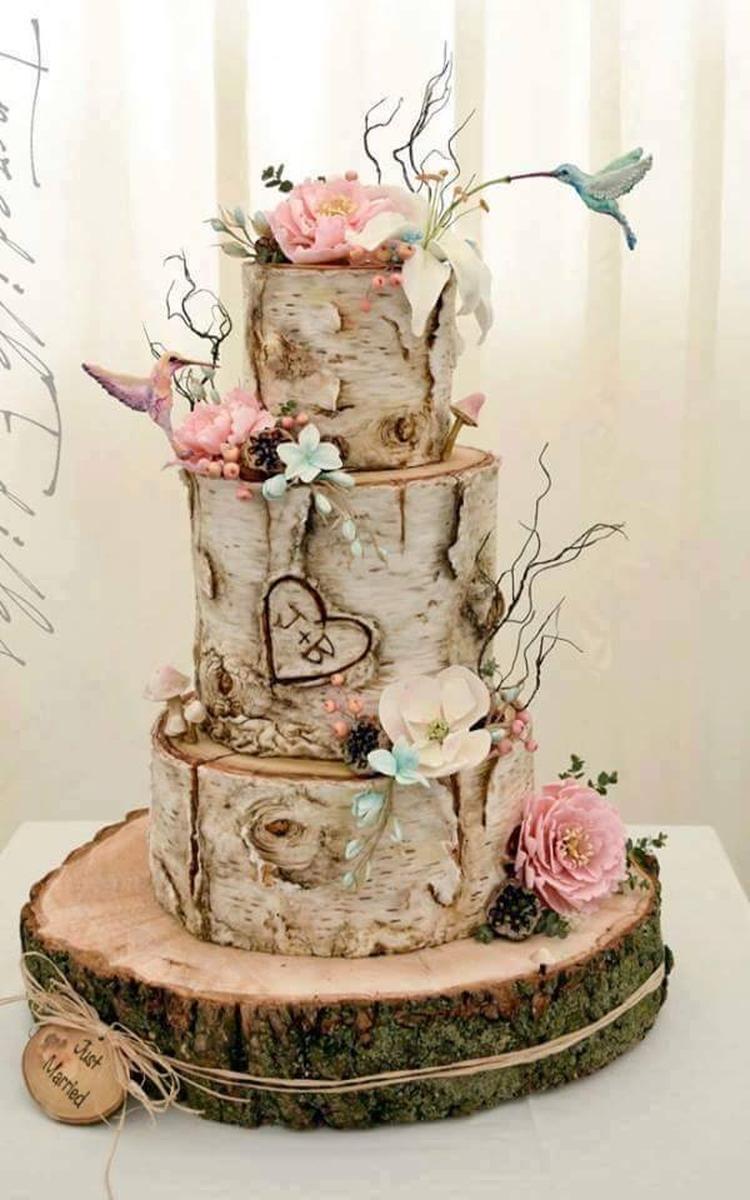 Houten taart. Foto geplaatst door Webshop www.decoratietakken.nl op ...