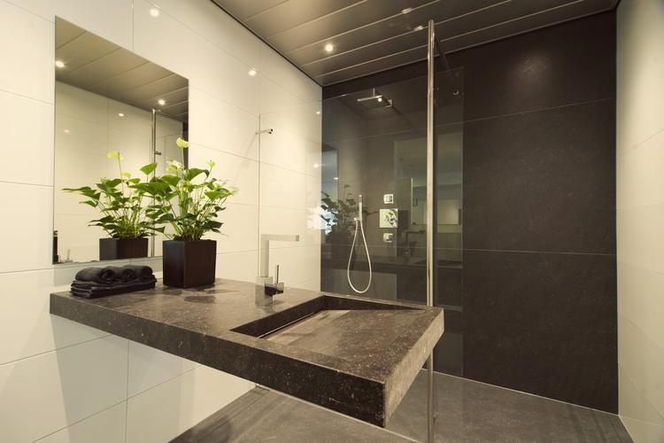 Chique Badkamer Ontwerp : De eerste kamer strakke badkamer origineel en chique ingericht