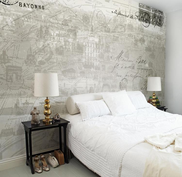 bijzonder behang voor in de slaapkamer. foto geplaatst door, Deco ideeën