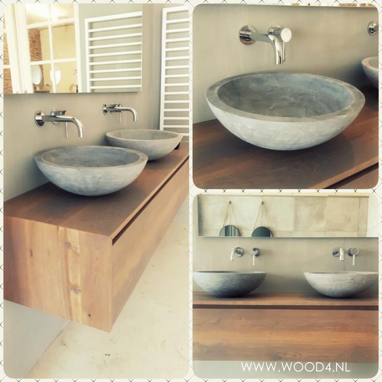 Een badkamermeubel van WOOD4 is een prachtige toevoeging voor uw ...