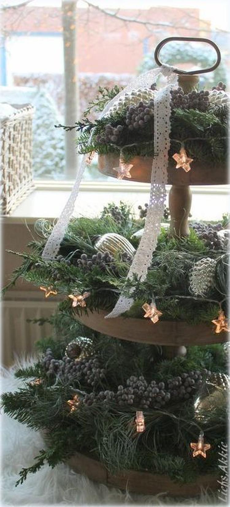 kerst tafelstuk. foto geplaatst door brenniedepennie op welke.nl