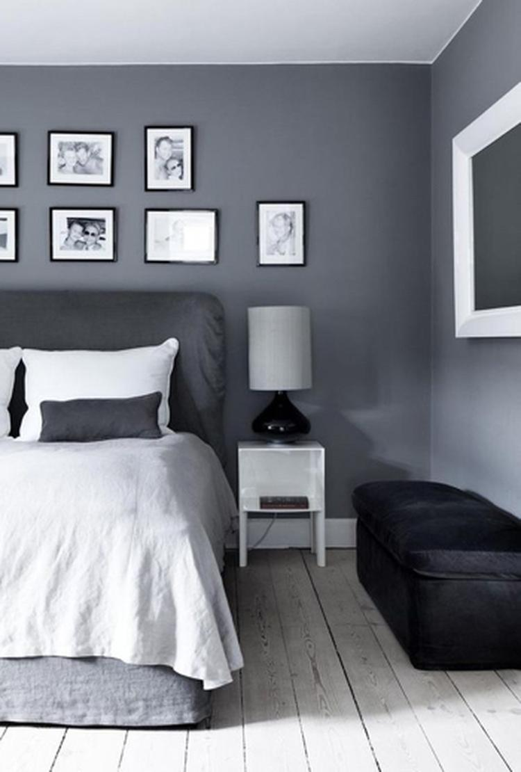 grijs is een prachtige neutrale kleur voor in de slaapkamer op woonblog vind je meer
