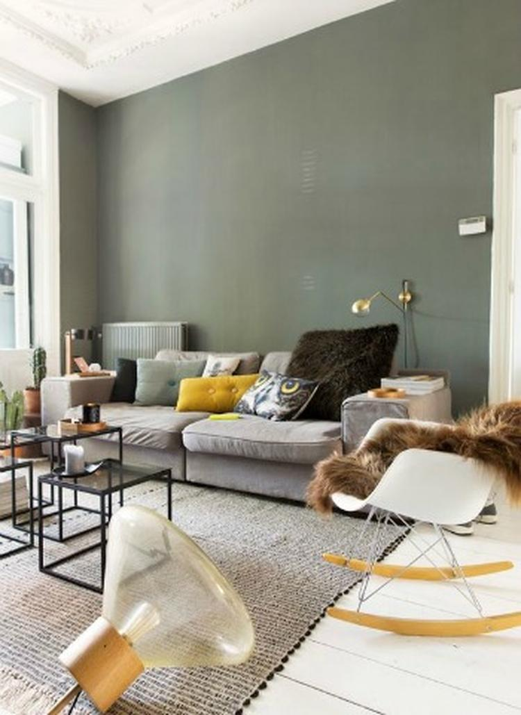 Groen is een prachtige kleur voor in de woonkamer! Meer ...