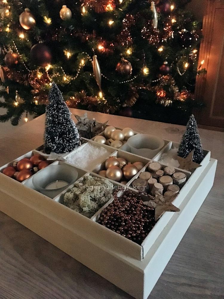 Extreem Van een oude theedoos kun je een zeer sfeervolle kerstdecoratie #RN19