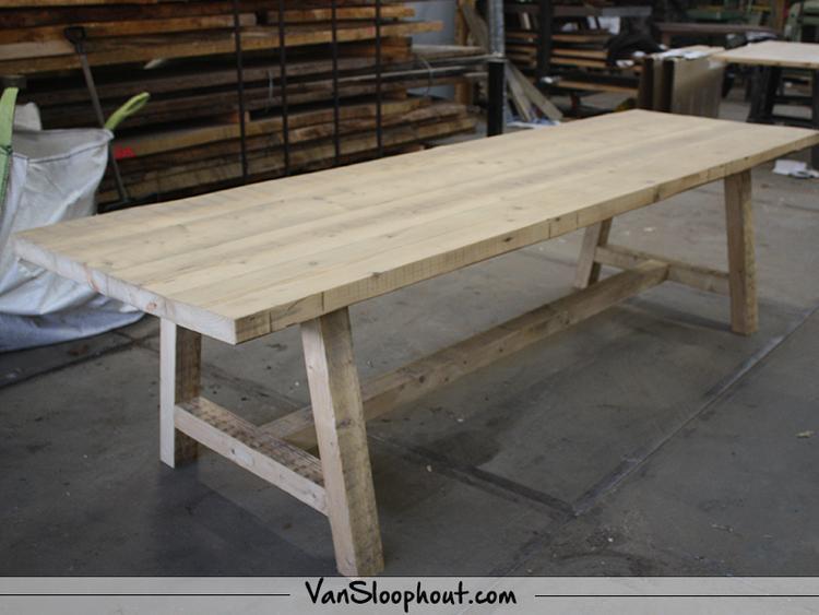 Industriele Tafel Sloophout.Oude Balken Tafel Reclaimedwood Oudebalken Sloophout Oudhout