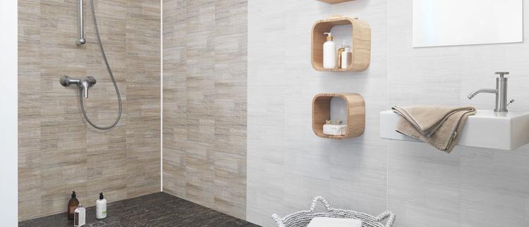 PVC wandpanelen oa. geschikt voor in de badkamer.. Foto geplaatst ...