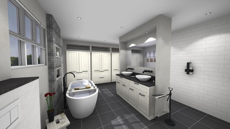 Middelkoop culemborg badkamers een badkamer en en wasruimte in