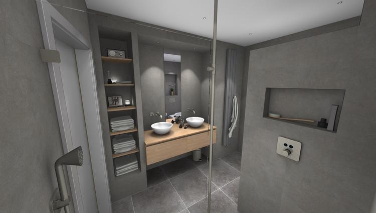 Middelkoop Culemborg / badkamers) Deze badkamer is uitgevoerd met ...