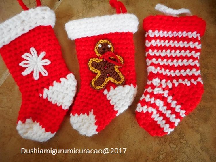 Nederlands Haakpatroon Kerst Sokjes Met Applicatie Foto Geplaatst