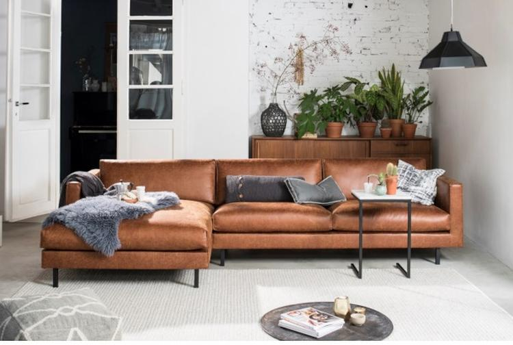 Cognac bank - bruine bank - woonkamer - tips voor een cognac bank in ...
