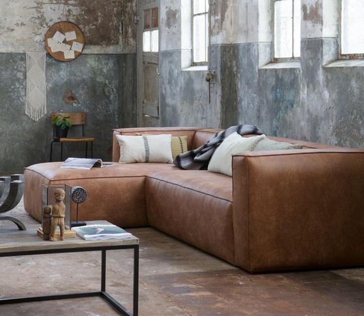 Cognac bank - bruine bank - woonkamer - tips voor een cognac bank ...