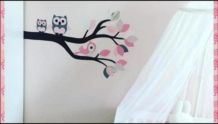 Roze Muurdecoratie Kinderkamer.Mooie Muurdecoratie Voor De Baby En Kinderkamer Een Roze Behangtak