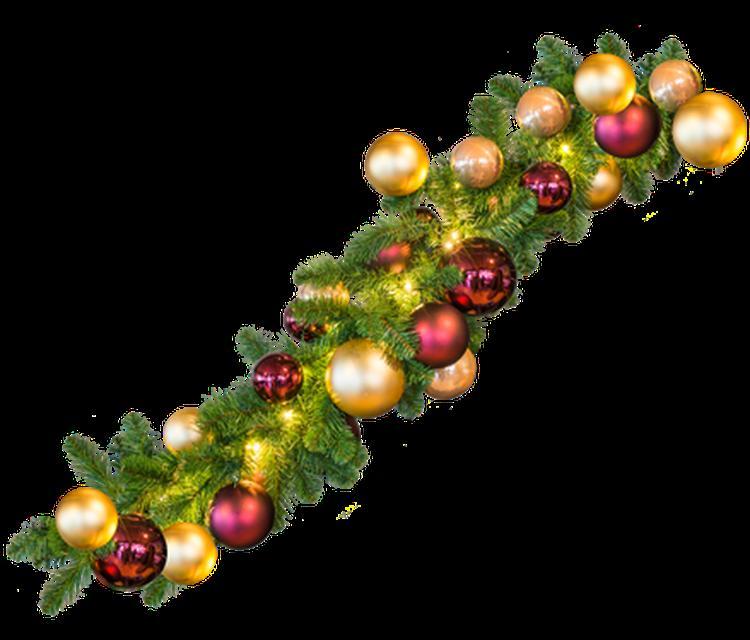 Guirlande met kerstballen en verlichting. Foto geplaatst door ...