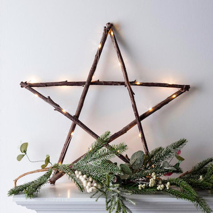 Mooie kerst ster met verlichting Eenvoudig gemaakt ...( Marjolein ...