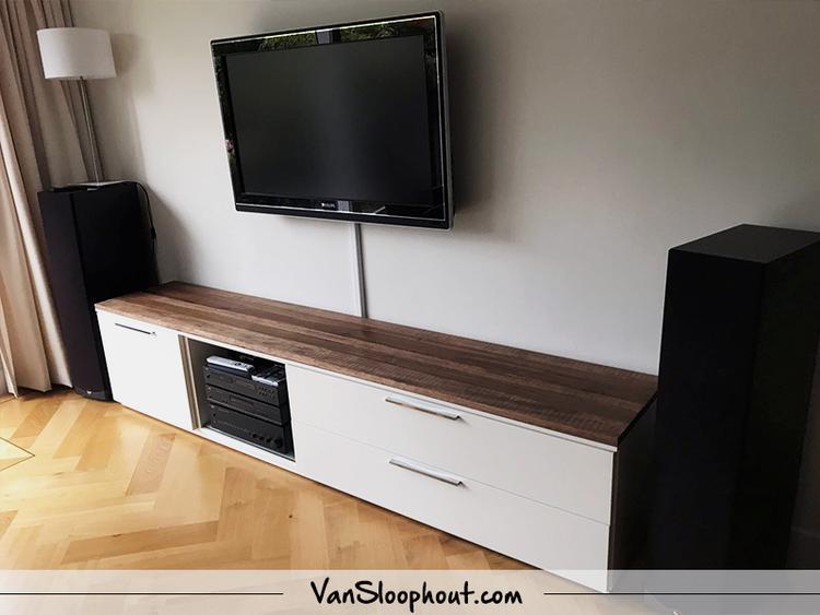 Ikea Tv Kast Grijs.Mangolook Tv Meubel Plank Creeer Je Eigen Tv Meubel Met Kastjes