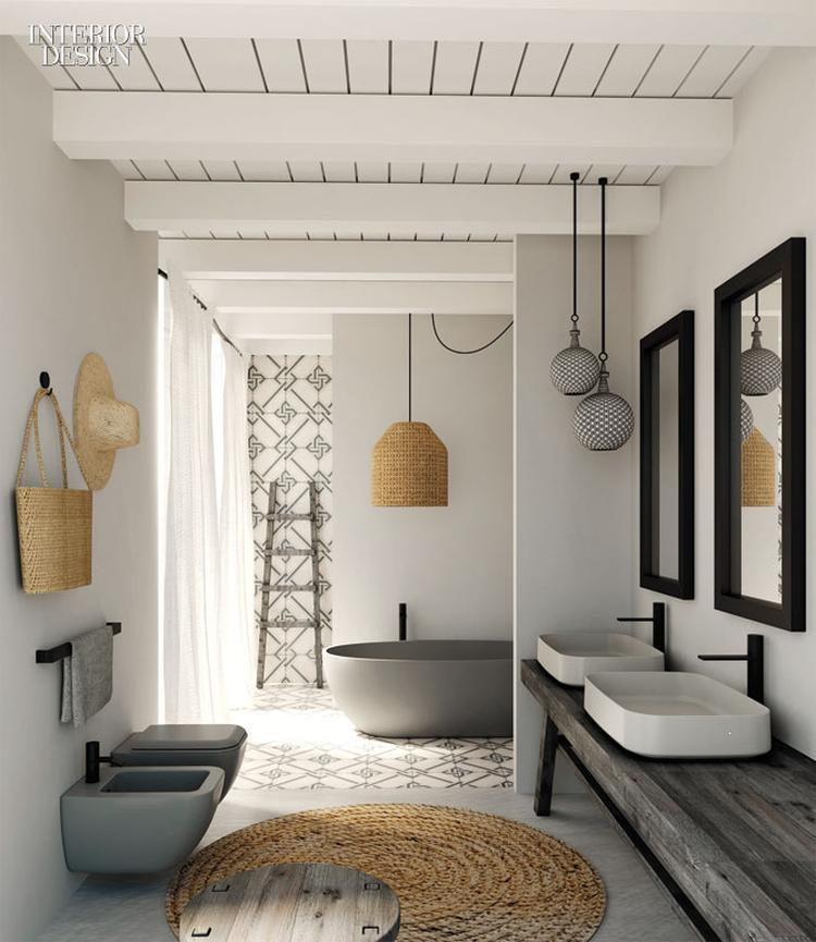 Een mooie rustige badkamer met natuurlijke elementen. Foto geplaatst ...