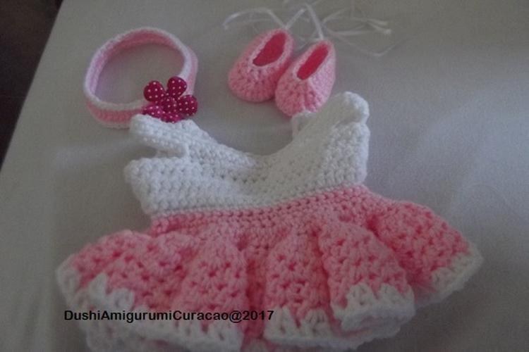 Nederlands Haakpatroon Ballet Pakje Baby Born Pop 17 Inch Foto