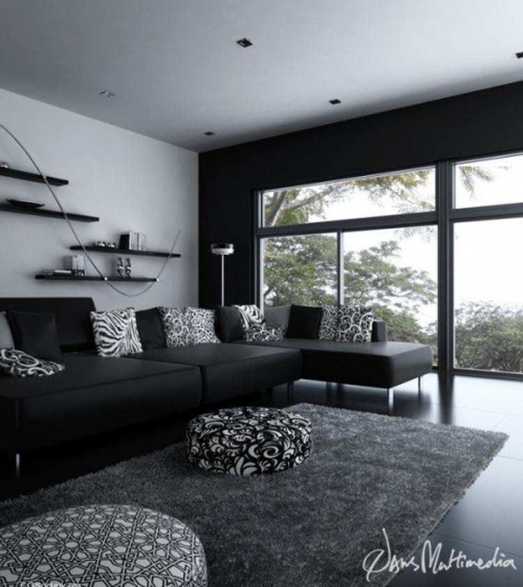 Zwart-wit in de woonkamer. . Foto geplaatst door maria1 op Welke.nl