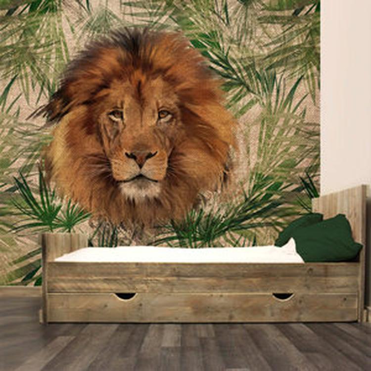 Leuk Behang Kinderkamer.Stoer Jungle Behang Voor De Kinderkamer Het Behang Heeft Een Stoere