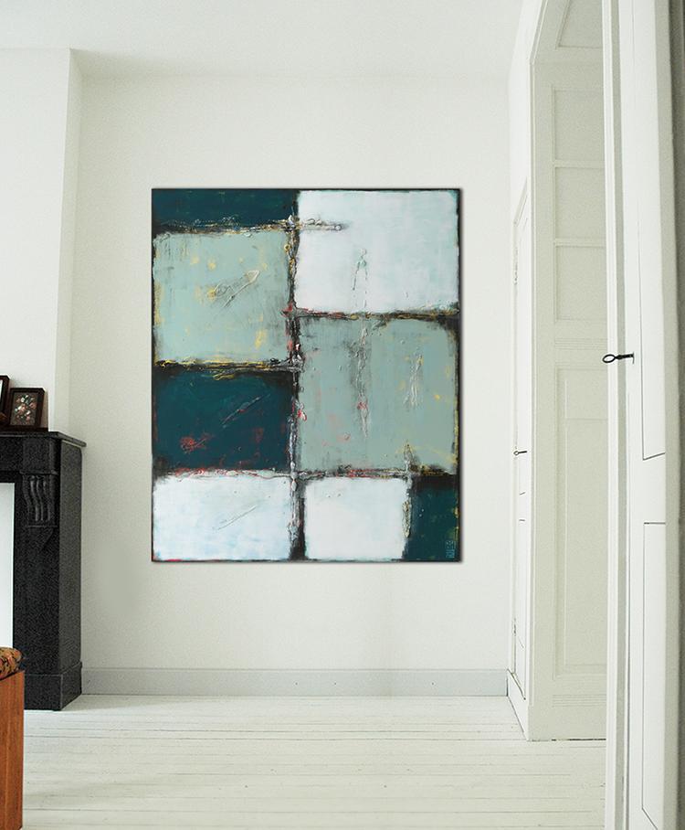 Modern schilderij van Ronald Hunter, mooi gebalanceerde compositie ...