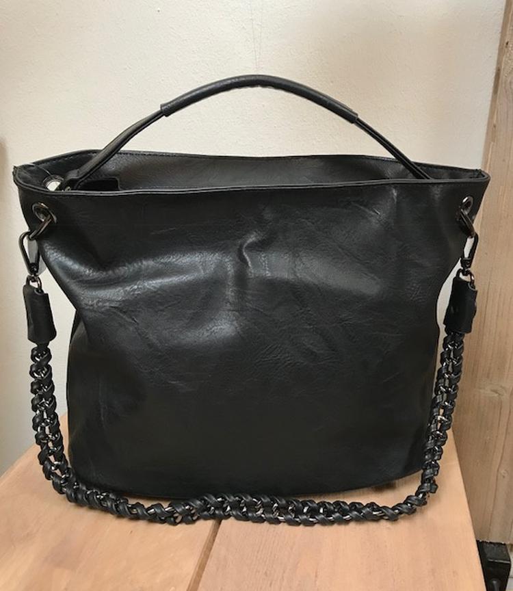 b6736bccdf4 Tas, bag in bag model met ritssluiting. Inclusief twee paar lange hengsels.  De