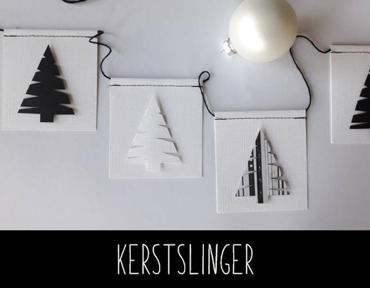 Kerst slinger handgemaakt van cardstock. slinger is ± 2 50 meter