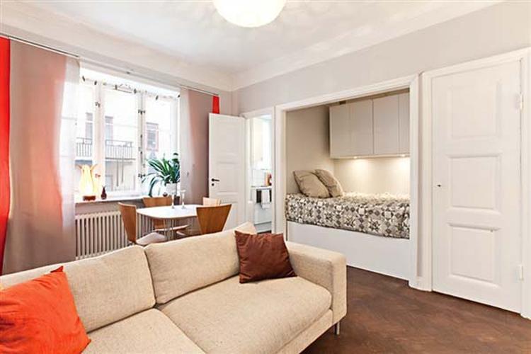 Slimme Oplossing Voor Klein Studio Appartement Bed In Kast