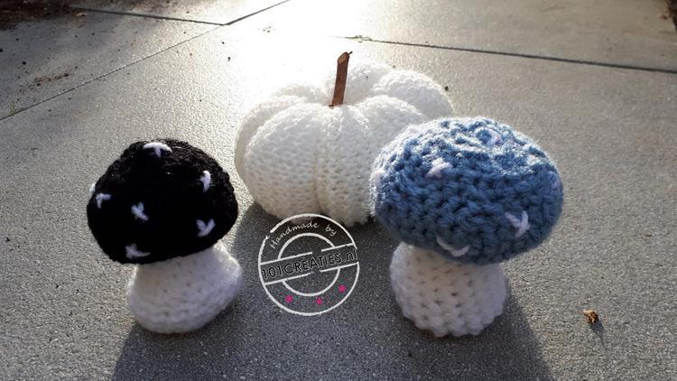 Herfstpaddenstoelen In Hippe Kleuren Haak Ze Zelf Kijk Op Www