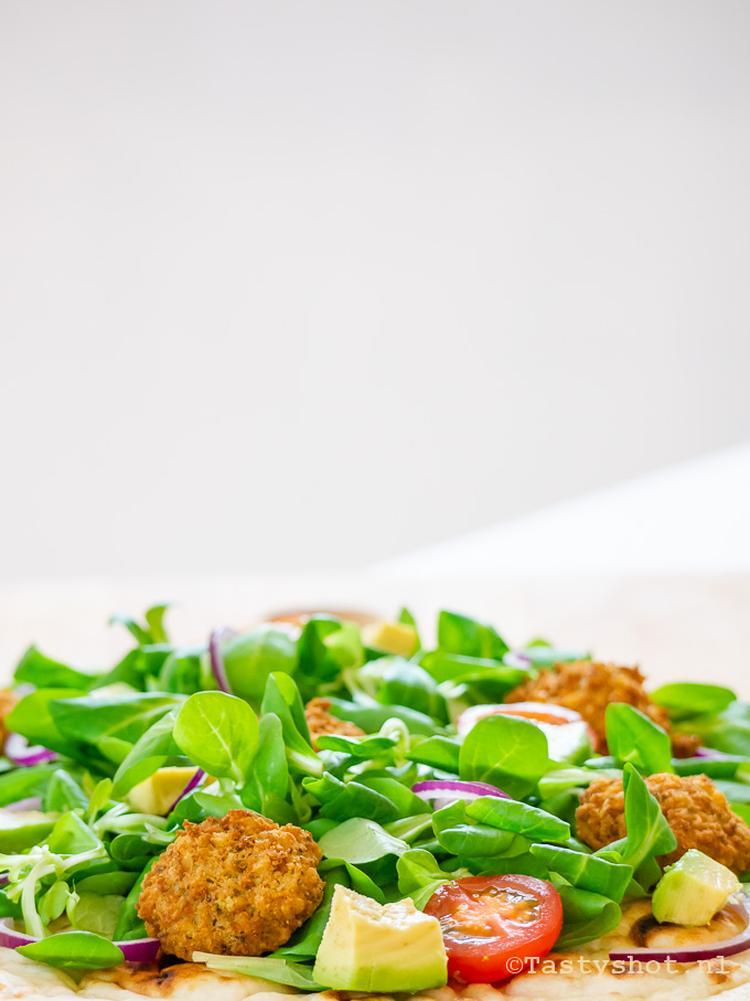 Recept Voor Flatbread Heerlijk Voor De Lunch Met Falafel Sla