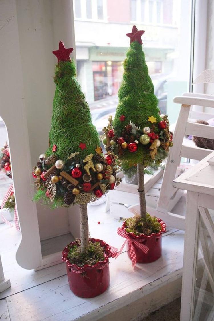 Kerst Voorbereiding 2018 Leuke Kerstboompjes Voor Op De Vensterbank