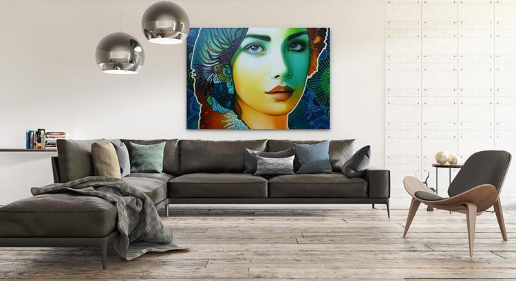 Woonkamer Met Kunst : Kleurrijke kunst in uw woonkamer geeft sfeer en klasse en maakt uw