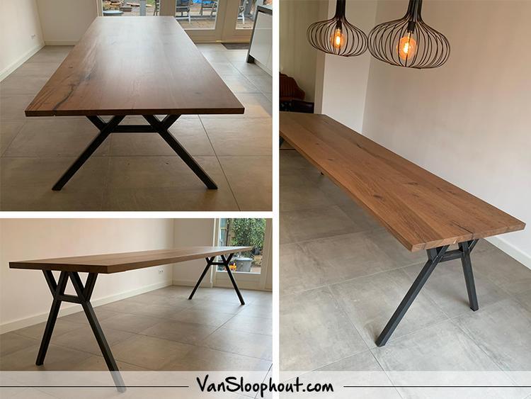 Deze tafel hebben wij afgelopen week geleverd bij de klant. een