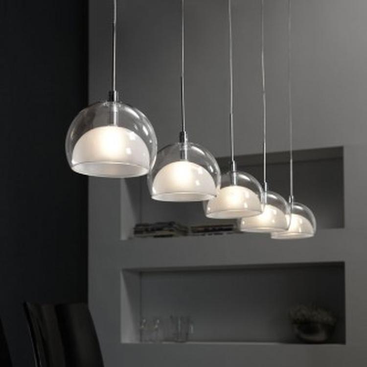 hanglamp lido met vijf kappen misschien voor boven de eettafel