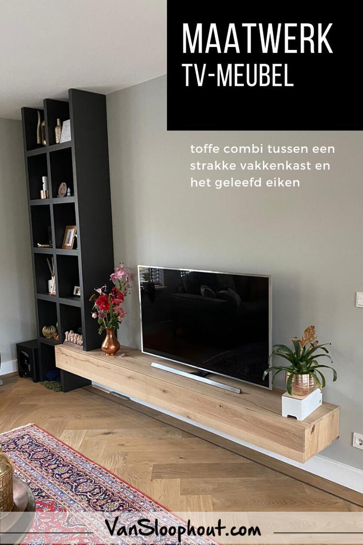 Tv Meubel Inspiratie.Maatwerk Tv Meubel Eiken Interieur Inspiratie Woonkamer