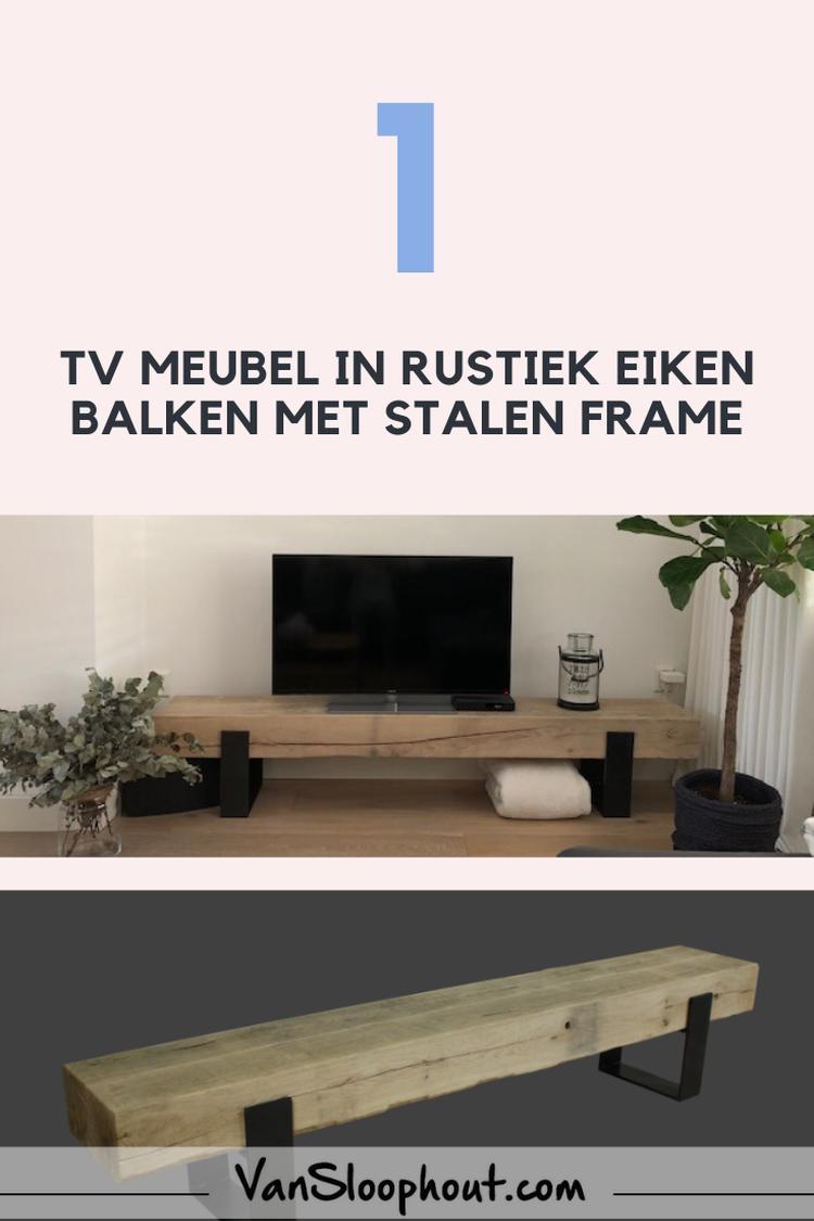 Tv Meubel Inspiratie.Rustiek Eiken Balken Tv Meubel Maatwerk Interieur Woon