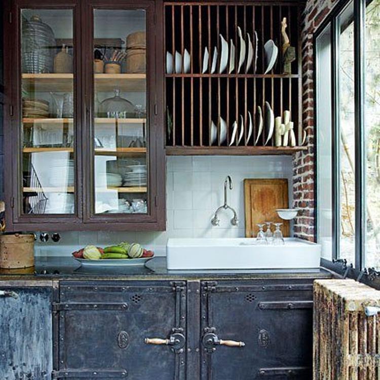 Vitrinekast Voor Keuken.Een Prachtige Keuken Met Een Vitrinekast Waar Ik Van Droom Foto