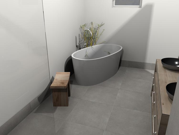Badkamer Vrijstaand Bad : De eerste kamer vrijstaand bad met houten badmeubel in deze