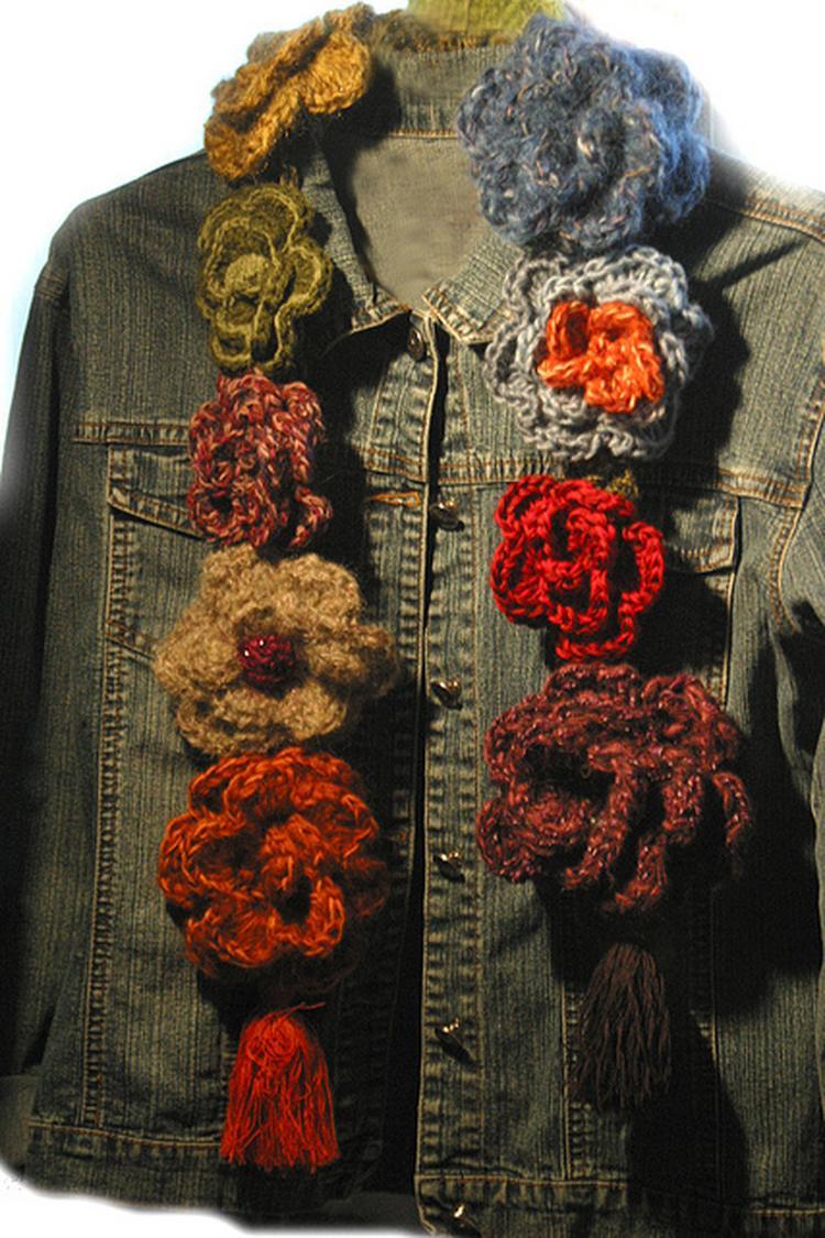Idee Om Zelf Een Bloemen Sjaal Te Haken Foto Geplaatst Door Sita
