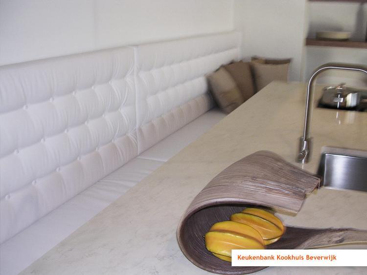 Wandpanelen kussens voor bank op maat gemaakt eetkamer foto