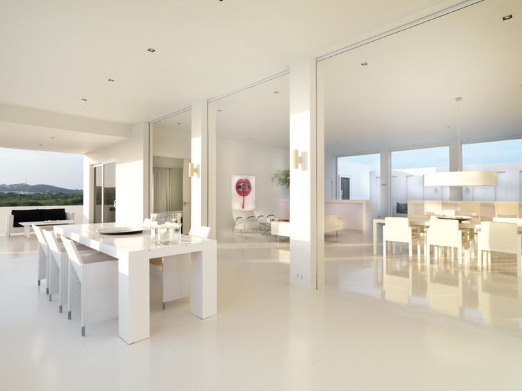 Jan Des Bouvrie Sidetable Wit.Villa In Curacao Ontworpen Door Jan Des Bouvrie Prachtige