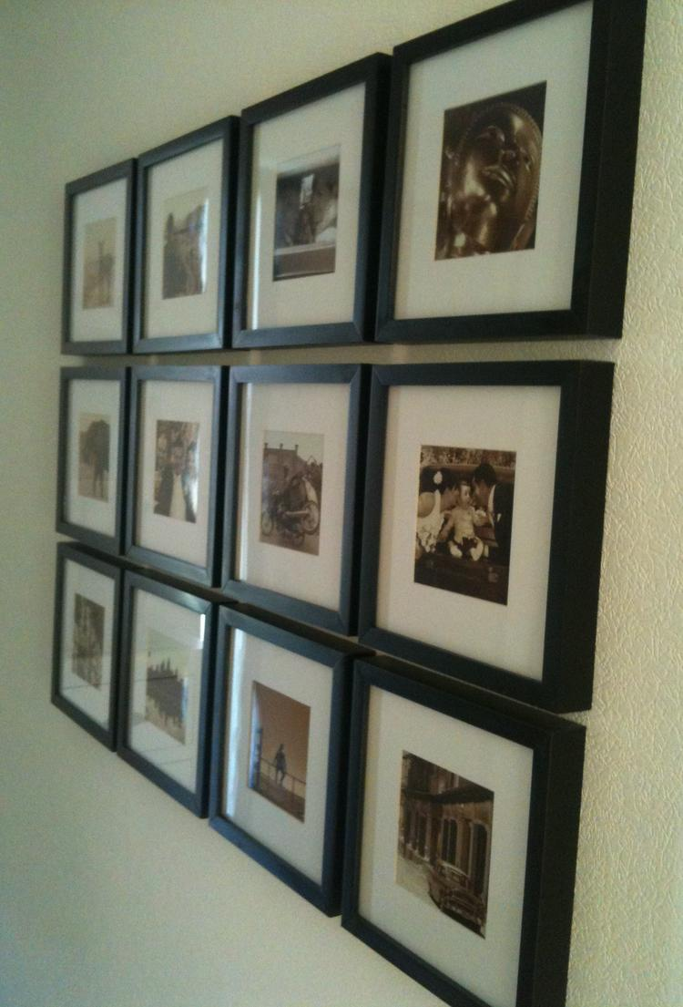 Fotowand Ikea fotowand met lijstjes de ikea en eigen foto s in sepia foto