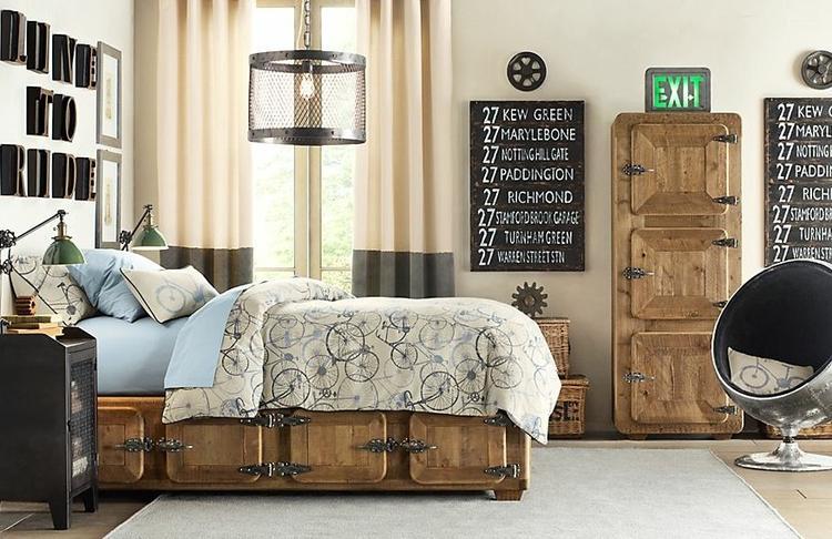 industrieel slaapkamer inrichting.. foto geplaatst door casinero, Deco ideeën