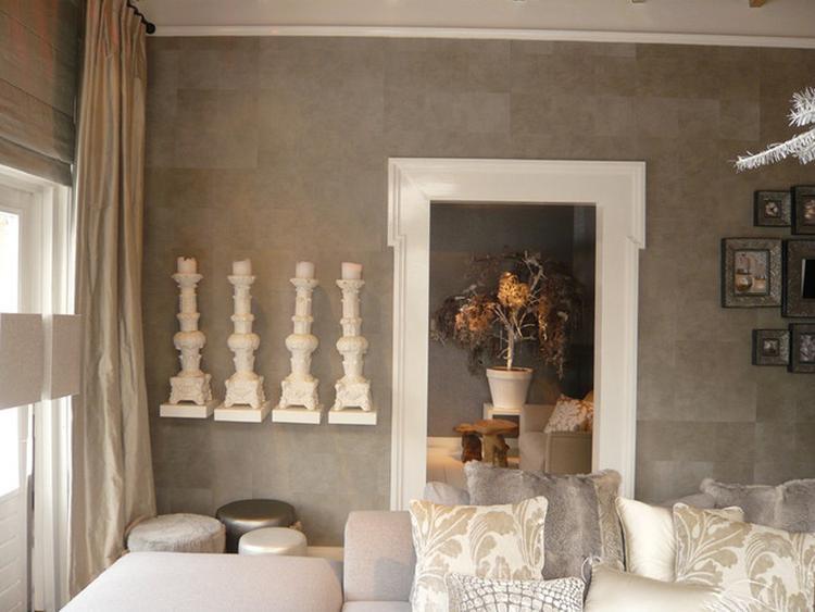 Landelijk behang woonkamer for Welke nl woonkamer