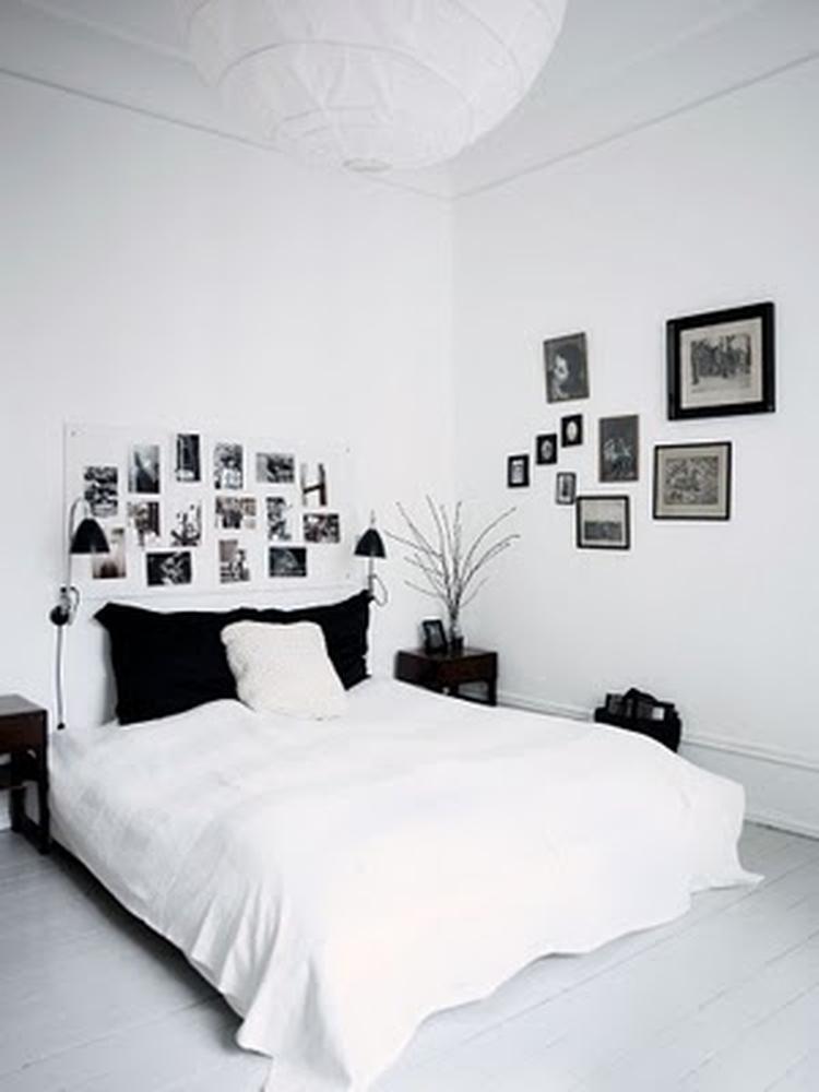 rustige slaapkamer in zwart en wit. . foto geplaatst door ietje op, Deco ideeën