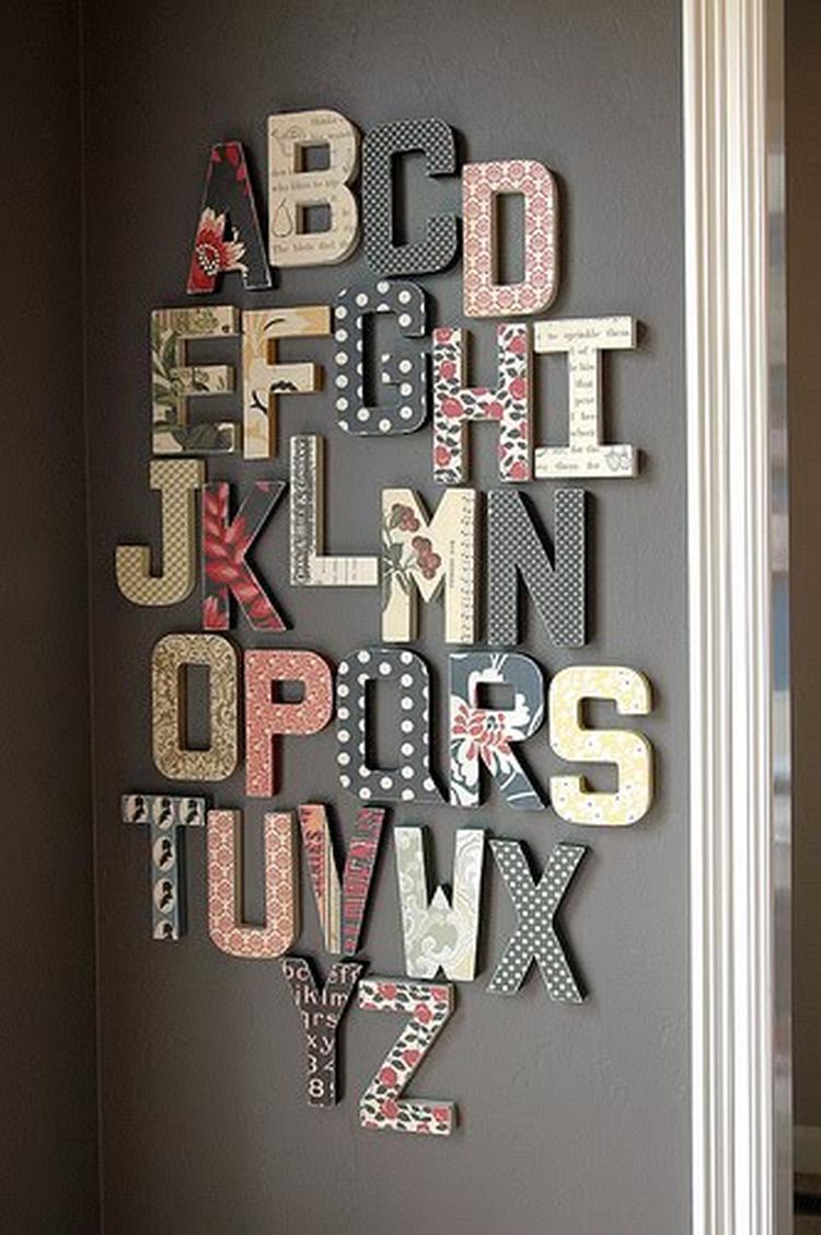 Schoenenkast Aan Muur.Leuk Alfabet Voor In De Kinderkamer Aan De Muur Foto Geplaatst