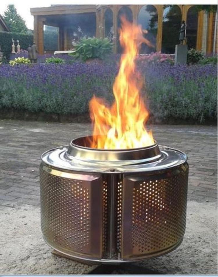 Verwonderend Een wasmachinetrommel als vuurkorf! Als bloempot kan ook, maar dit US-77