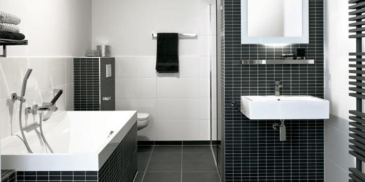 badkamer idee zwart wit gando. foto geplaatst door iluusie op welke.nl, Badkamer