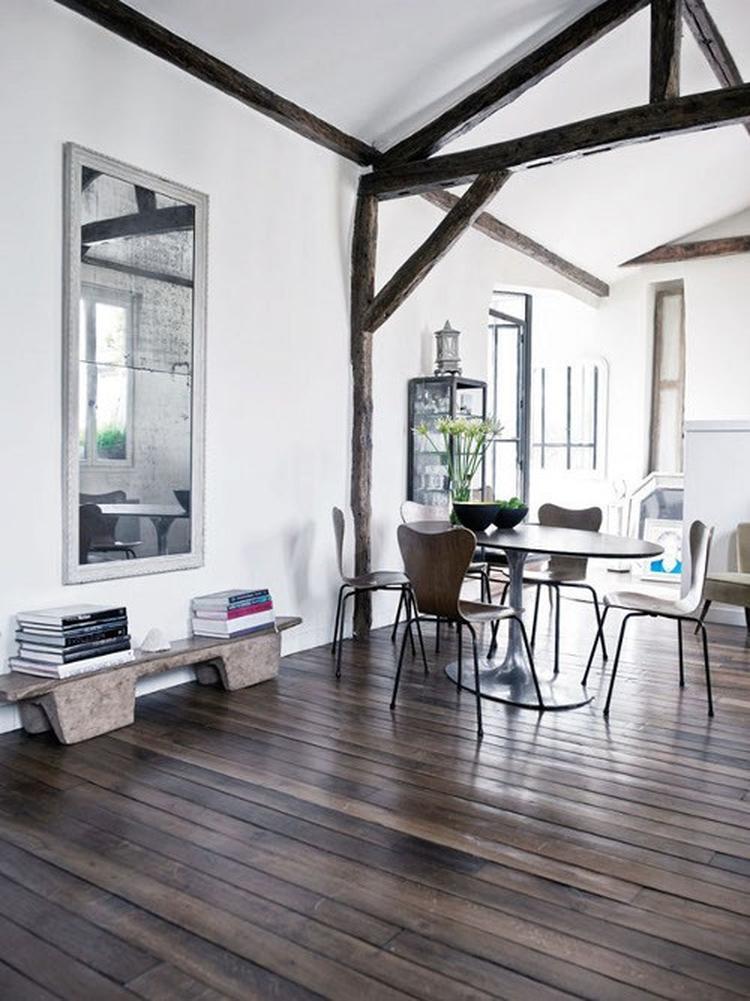 Moderne woonkamer met landelijke sfeer. . Foto geplaatst door Ietje ...