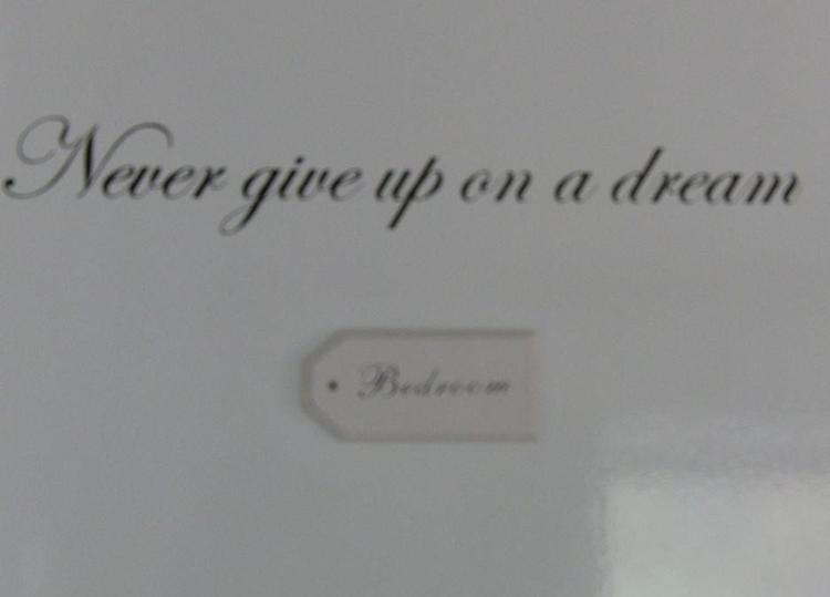mooie tekst op mijn slaapkamer deur van rod stewart