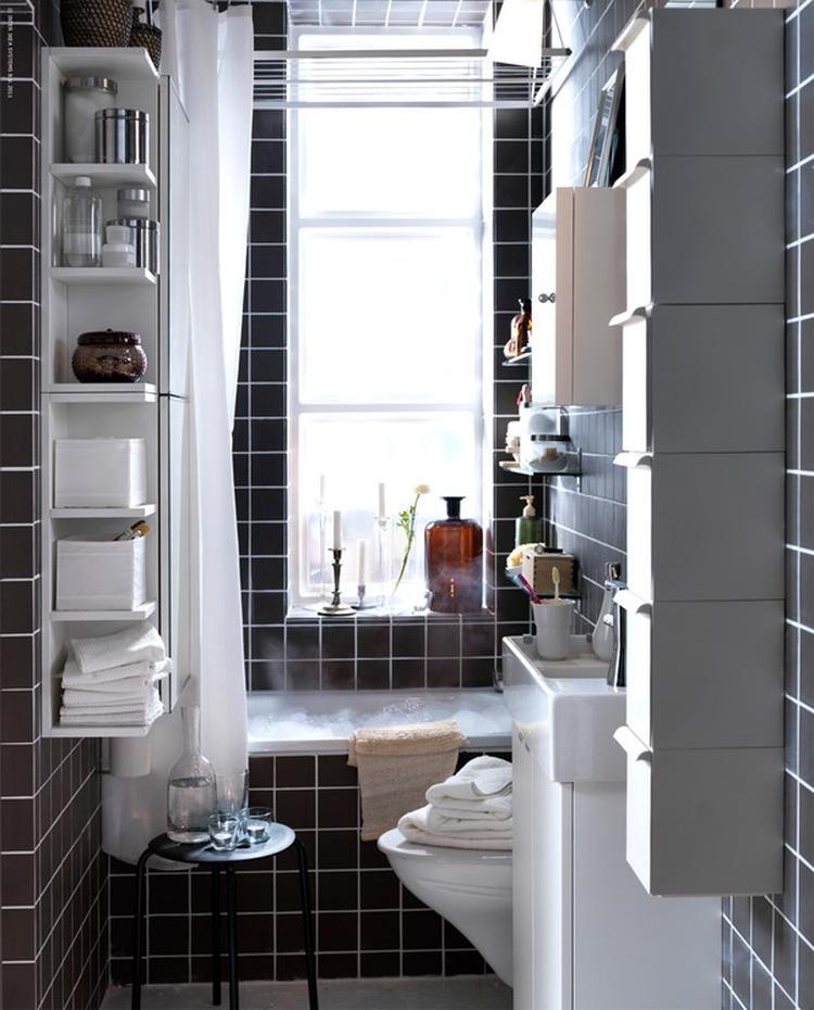 inrichten van de kleine badkamer volgens ikea. ikea laat zien dat, Meubels Ideeën